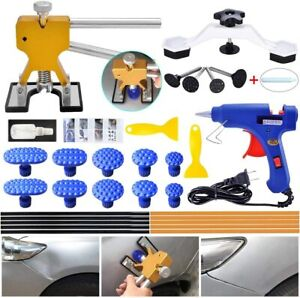 Auto Paintless Dent Repair Kits Golden Car Dent Puller With Bridge Dent Puller