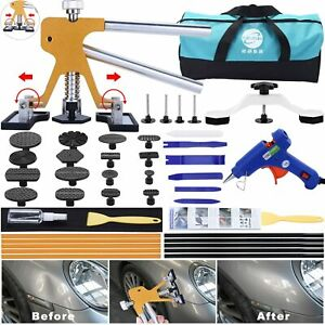 45pcs Paintless Dent Repair Tool Dent Puller Kit Adjustable Width Pops A Dent