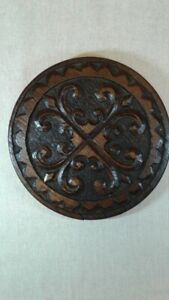 Antique Hand Carved Oak Panel Architectural Salvage
