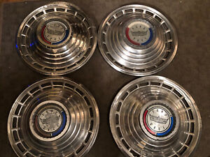 1963 Ford Classic Galaxie 500 Hubcaps Set Of 4 Original Vintage Dd82
