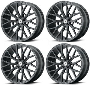 22x9 Asanti Black Abl 21 Leo 5x120 32 Matte Graphite Wheels Rims Set 4