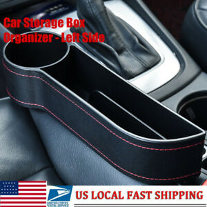 Car Seat Gap Catcher Storage Box Organizer Cup Crevice Pocket Stowing Left Side