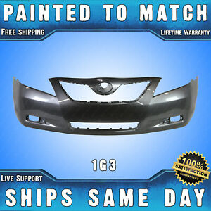 New Painted 1g3 Magnetic Gray Front Bumper Cover For 2007 2009 Toyota Camry