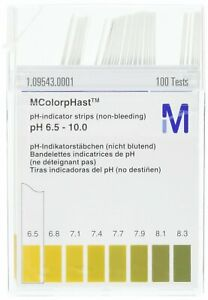 Emd Millipore Mcolorphast 1 09543 0001 Non bleeding Ph indicator Strip 6 5 10 0