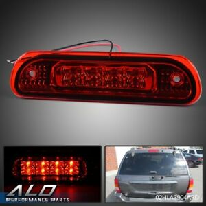 Led 3rd Third Brake Light Rear Cargo Lamp Red For 1999 2004 Jeep Grand Cherokee