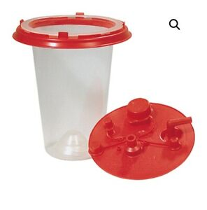 Lot 5 Baxter 1500ml Medi vac Crd Inner Thinwall Suction Canister Liner W Lid