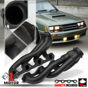 Black Painted Shorty Exhaust Header Manifold For 79 93 Ford Mustang 5 0 302 V8