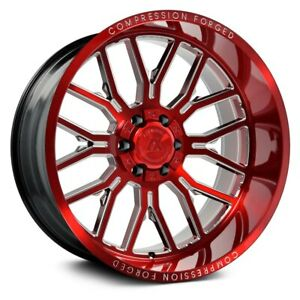26x14 Axe Ax6 2 8x180 76 Red Milled Wheels Rims Set 4 125 2