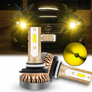 For Lexus Is Rx Es Golden Yellow Led High Beam Headlights Daytime Running Lights