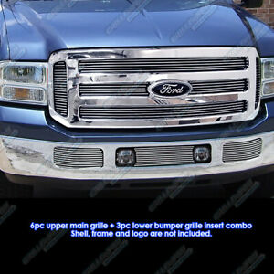 For 2005 2007 Ford Excursion f250 f350 Sd Billet Grille Grill Insert Combo