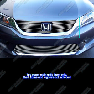 Fits 2013 2015 Honda Accord Sedan Upper Main Upper Billet Grille Insert