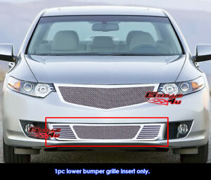 For 2009 2010 Acura Tsx Bumper Stainless Steel Mesh Grille Grill Insert