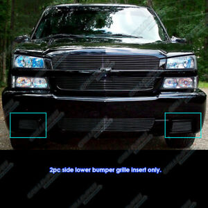 For 2003 2006 Chevy Silverado 1500 Ss Black Bumper Billet Grille Grill Insert