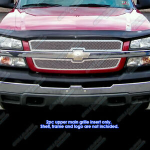 Fits 2003 2005 Chevy Silverado 1500 03 04 2500 Mesh Grille