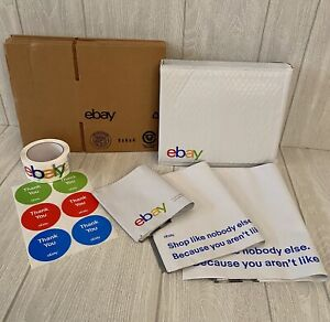 Ebay Branded Shipping Supplies Kit Boxes Padded Envelopes Tape Stickers 37 Pcs