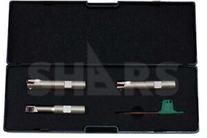Shars 3 8 1 2 5 8 Mini Indexable End Mill Set With Apkt 1003 Insert New P