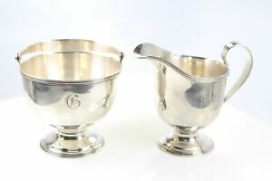 Sterling Silver Tiffany Co Creamer And Sugar Set 1907 47 Date 6400
