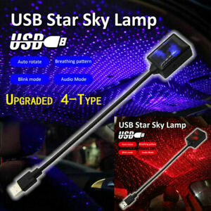 Upgraded Usb Car Interior Atmosphere Starrry Sky Lamp Star Light Led Projector