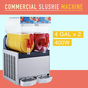 Commercial Frozen Drink Maker Slushie And Margarita Machine 8 Gallon Capacity