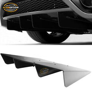 Universal Rear Diffuser Underbody Assembly 22x20 In Unpainted Abs Plastic