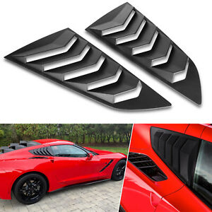 Side Window Louvers Cover Windshield Sun Shade Vent For 2014 2019 C7 Corvette