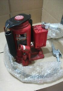 Big Red 20 Ton Air Hydraulic Bottle Jack Heavy Duty Steel Pneumatic Manual Torin