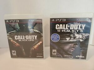 CALL OF DUTY BUNDLE BLACK OPS AND GHOSTS PlayStation 3 $8.99