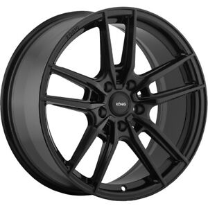 4 New 19x8 5 Konig 55b Myth Black Wheels Rims 40 5x120