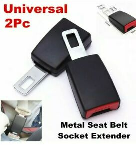 2 Pack Car Safe Seat Belt Buckle Extension Extender Clip Universal 7 8 Metal Pc