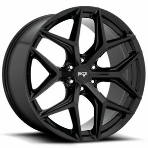 22x9 5 Niche M231 Vice Suv 6x5 5 6x139 7 30 Gloss Black Wheels Rims Set 4