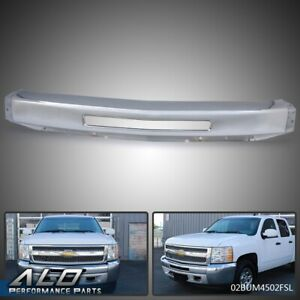 For 2007 2013 Chevy Silverado 1500 Steel Front Bumper Impact Face Bar Chrome