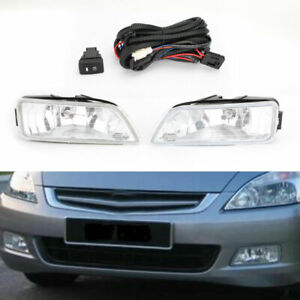 2x Clear Fog Lights W wiring switch For 03 07 Honda Accord 4dr 04 08 Acura Tl Us