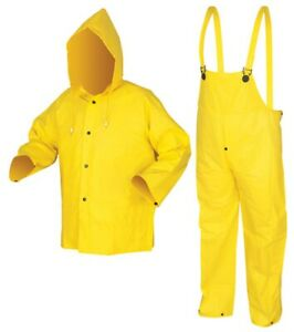 5 New Mcr Wizard Rain 3 Piece Rain Suit Coverall 3003l Large Yellow New