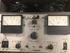 Hipotronics 100 Series Hipot Tester Used Untested 100hvt a High Voltage Electric