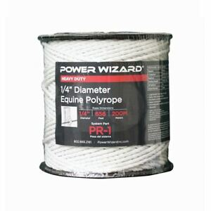 Agratronix Poly rope Equine 1 4 Diam 656ft200m Electric Fence Pr 1