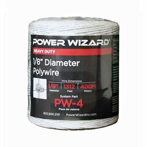 Agratronix Poly wire 1 8in Diameter 1312ft400m Electric Fence Pw 4