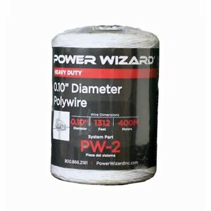 Agratronix Poly wire 10in Diameter 1312ft400m Electric Fence Pw 2