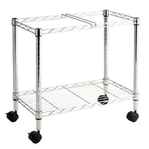 Metal Rolling File Cart For Folder Storage silver