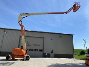 2008 Jlg 600aj Telescopic Boom Lift 4 Wheel Steer Aerial Scissor Iowa Can Ship