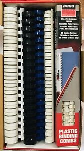 Lot Of 128 Ibico Plastic Binding Combs af