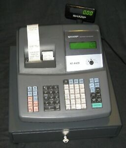 Sharp Electronic Cash Register Model Xe a42s Used In Good Working Condition