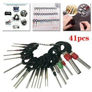 41pcs Wire Terminal Removal Tool Car Electrical Wiring Crimp Connector Pin Kit