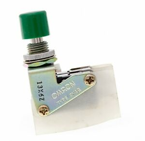 Omron 2vaq Green Push Button Switch Moementary Dpdt 15a 125 Vac Nos
