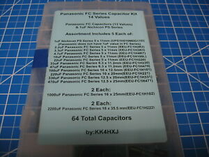 Panasonic Fc Series Capacitors Individual Values And Kits 2 2 4700uf 25v 50v