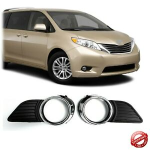 Front Bumper Fog Light Cover For 2011 2017 For Toyota Sienna Xle Le Chrome Trim