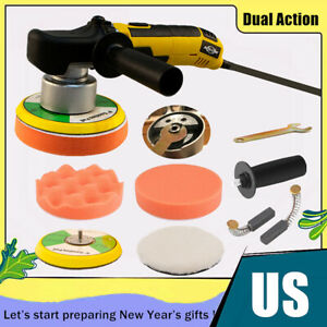 6 Dual Action Random Orbital Car Polisher Buffer Sander Polish Machine Wax Kit