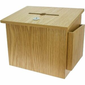 Wood Collection Box Suggestion Box Tithing Box Charity Box With Lock
