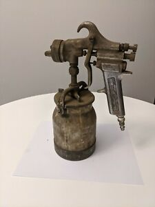 Vintage The Black Mfg Spray Gun With Binks Canister tank