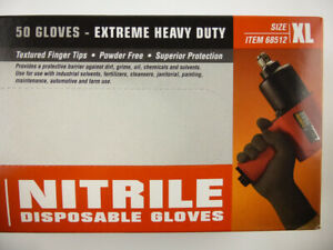 Nitrile Gloves 9 Mil Strong Extreme Heavy Duty Powder Free Xl New Boxed