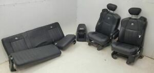 2001 2004 Ford F250 Complete Black Leather Harley Davidson Seats And Conosole